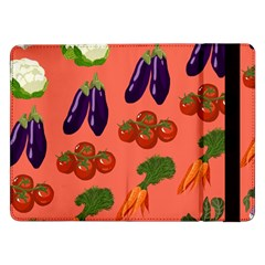 Vegetable Carrot Tomato Pumpkin Eggplant Samsung Galaxy Tab Pro 12 2  Flip Case
