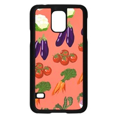 Vegetable Carrot Tomato Pumpkin Eggplant Samsung Galaxy S5 Case (black)