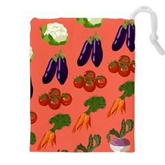Vegetable Carrot Tomato Pumpkin Eggplant Drawstring Pouches (xxl)