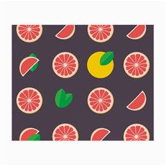Wild Textures Grapefruits Pattern Lime Orange Small Glasses Cloth (2 Side)