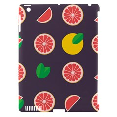 Wild Textures Grapefruits Pattern Lime Orange Apple Ipad 3/4 Hardshell Case (compatible With Smart Cover)