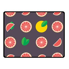 Wild Textures Grapefruits Pattern Lime Orange Double Sided Fleece Blanket (small)