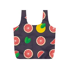 Wild Textures Grapefruits Pattern Lime Orange Full Print Recycle Bags (s)