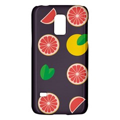 Wild Textures Grapefruits Pattern Lime Orange Galaxy S5 Mini