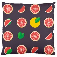 Wild Textures Grapefruits Pattern Lime Orange Standard Flano Cushion Case (two Sides)
