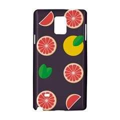 Wild Textures Grapefruits Pattern Lime Orange Samsung Galaxy Note 4 Hardshell Case