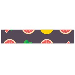 Wild Textures Grapefruits Pattern Lime Orange Flano Scarf (large)
