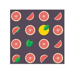 Wild Textures Grapefruits Pattern Lime Orange Small Satin Scarf (square)