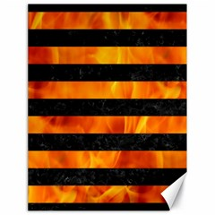 Stripes2 Black Marble & Fire Canvas 18  X 24