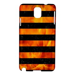 Stripes2 Black Marble & Fire Samsung Galaxy Note 3 N9005 Hardshell Case
