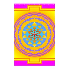 Triangle Orange Pink Shower Curtain 48  X 72  (small)