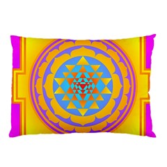 Triangle Orange Pink Pillow Case (two Sides)