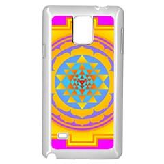 Triangle Orange Pink Samsung Galaxy Note 4 Case (white)