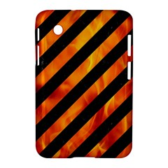 Stripes3 Black Marble & Fire Samsung Galaxy Tab 2 (7 ) P3100 Hardshell Case