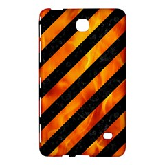Stripes3 Black Marble & Fire Samsung Galaxy Tab 4 (7 ) Hardshell Case