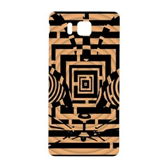 Wooden Cat Face Line Arrow Mask Plaid Samsung Galaxy Alpha Hardshell Back Case