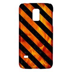 Stripes3 Black Marble & Fire (r) Galaxy S5 Mini