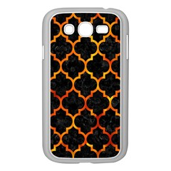 Tile1 Black Marble & Fire Samsung Galaxy Grand Duos I9082 Case (white)