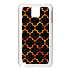 Tile1 Black Marble & Fire Samsung Galaxy Note 3 N9005 Case (white)