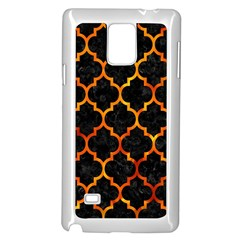 Tile1 Black Marble & Fire Samsung Galaxy Note 4 Case (white)