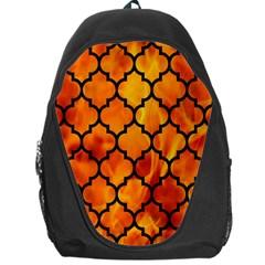 Tile1 Black Marble & Fire (r) Backpack Bag