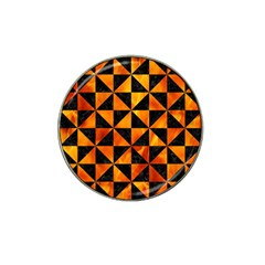 Triangle1 Black Marble & Fire Hat Clip Ball Marker (10 Pack)
