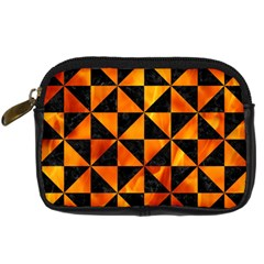 Triangle1 Black Marble & Fire Digital Camera Cases