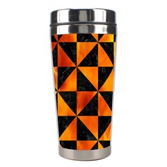 Triangle1 Black Marble & Fire Stainless Steel Travel Tumblers