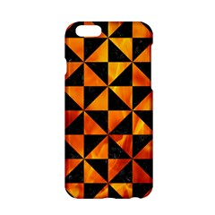 Triangle1 Black Marble & Fire Apple Iphone 6/6s Hardshell Case