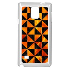 Triangle1 Black Marble & Fire Samsung Galaxy Note 4 Case (white)