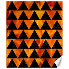 Triangle2 Black Marble & Fire Canvas 20  X 24