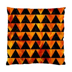 Triangle2 Black Marble & Fire Standard Cushion Case (two Sides)