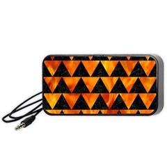 Triangle2 Black Marble & Fire Portable Speaker (black)