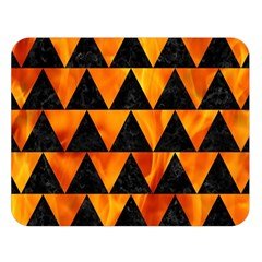 Triangle2 Black Marble & Fire Double Sided Flano Blanket (large)
