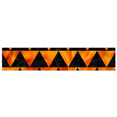 Triangle2 Black Marble & Fire Flano Scarf (small)