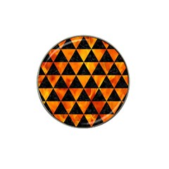 Triangle3 Black Marble & Fire Hat Clip Ball Marker