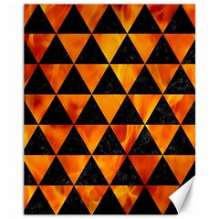 Triangle3 Black Marble & Fire Canvas 11  X 14