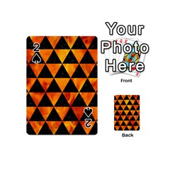 Triangle3 Black Marble & Fire Playing Cards 54 (mini)