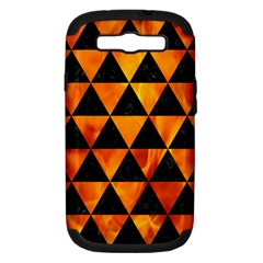 Triangle3 Black Marble & Fire Samsung Galaxy S Iii Hardshell Case (pc+silicone)