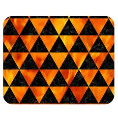 Triangle3 Black Marble & Fire Double Sided Flano Blanket (medium)