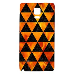 Triangle3 Black Marble & Fire Galaxy Note 4 Back Case