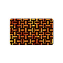Woven1 Black Marble & Fire Magnet (name Card)