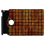 WOVEN1 BLACK MARBLE & FIRE Apple iPad 3/4 Flip 360 Case Front
