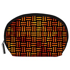 Woven1 Black Marble & Fire Accessory Pouches (large)