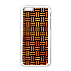 Woven1 Black Marble & Fire Apple Iphone 6/6s White Enamel Case