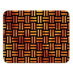 Woven1 Black Marble & Fire Double Sided Flano Blanket (large)