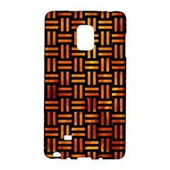 Woven1 Black Marble & Fire Galaxy Note Edge