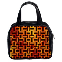 Woven1 Black Marble & Fire (r) Classic Handbags (2 Sides)