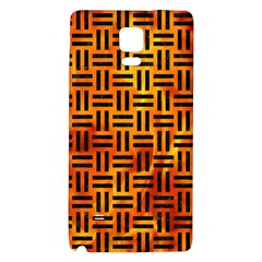 Woven1 Black Marble & Fire (r) Galaxy Note 4 Back Case