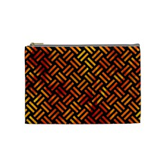Woven2 Black Marble & Fire Cosmetic Bag (medium)